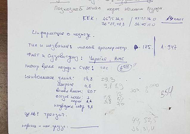 Dokumenty, skonfiskowane u zatrzymanych ukraińskich marynarzy po incydencie w Cieśnienie Kerczeńskiej