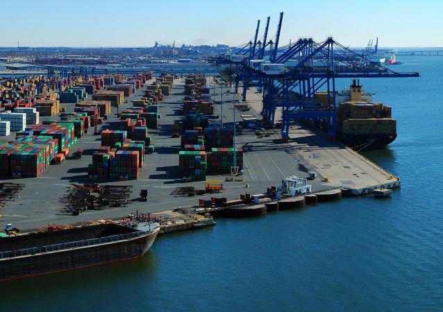 Port w amerykańskim mieście Baltimore