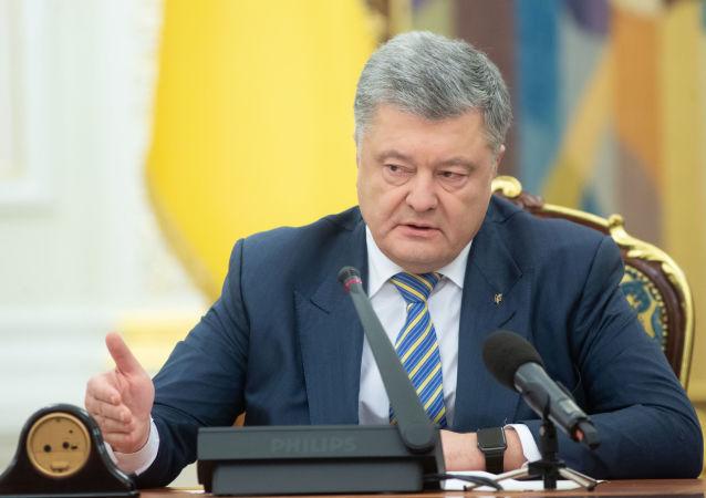 Petro Poroszenko na posiedzeniu Rady Bezpieczeństwa i Obrony Ukrainy w Kijowie
