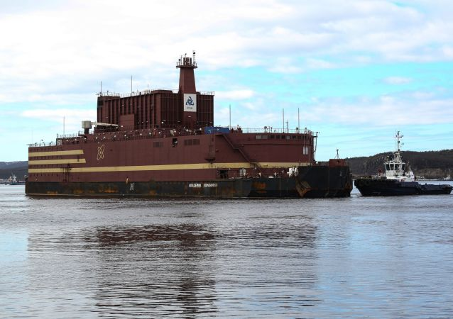 """Pływający blok jądrowy """"Akademik Łomonosow"""" w Murmańsku"""