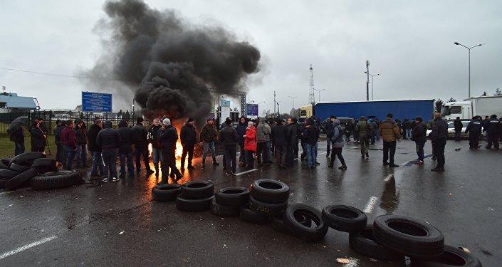 Protesty na granicy polsko-ukraińskiej