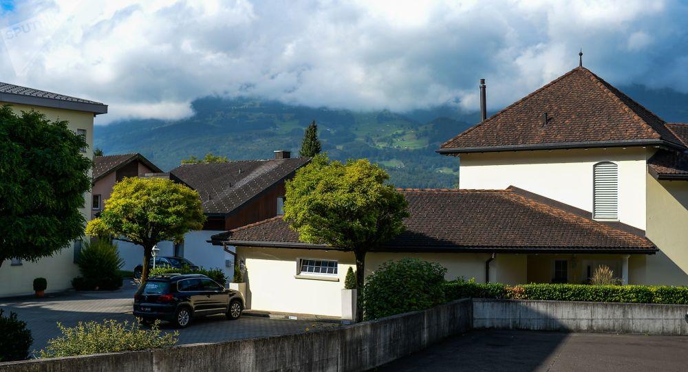 Ulica w Vaduz, stolicy księstwa Liechtensteinu