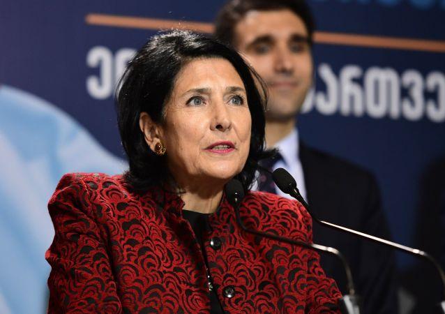 "Kandydatka na prezydenta, liderka partii ""Droga Gruzji"" Salome Zurabiszwili"