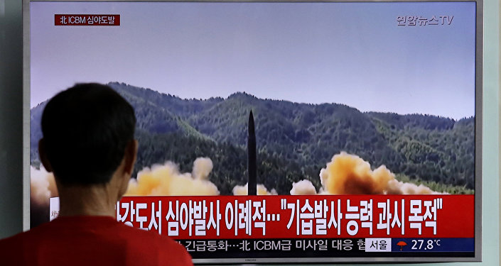 Próba rakietowa w KRLD