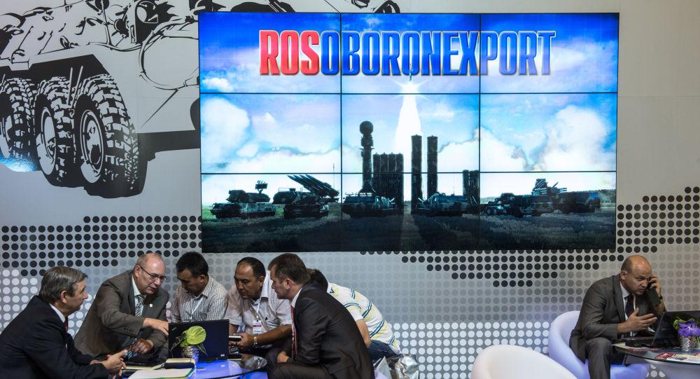 Stoisko Rosoboroneksportu na międzynarodowej wystawie Oboronekspo 2014