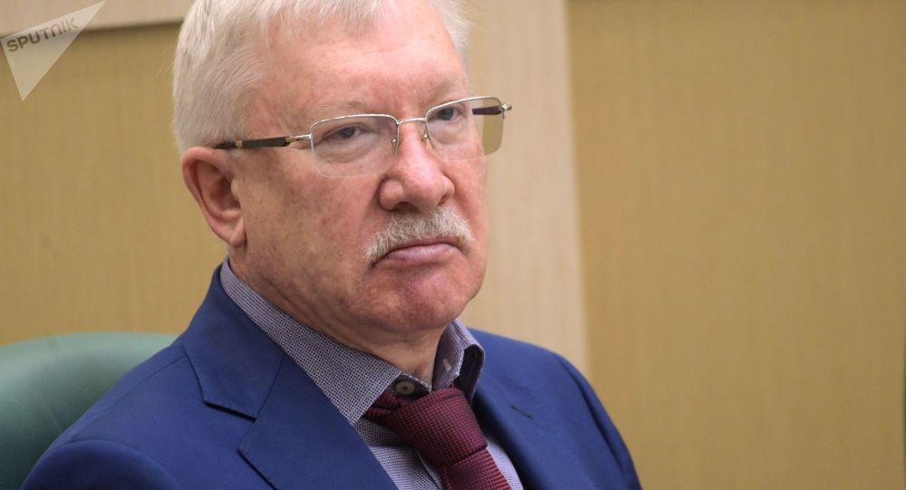 Członek Komisji Spraw Międzynarodowych Rady Federacji Rosji Oleg Morozow