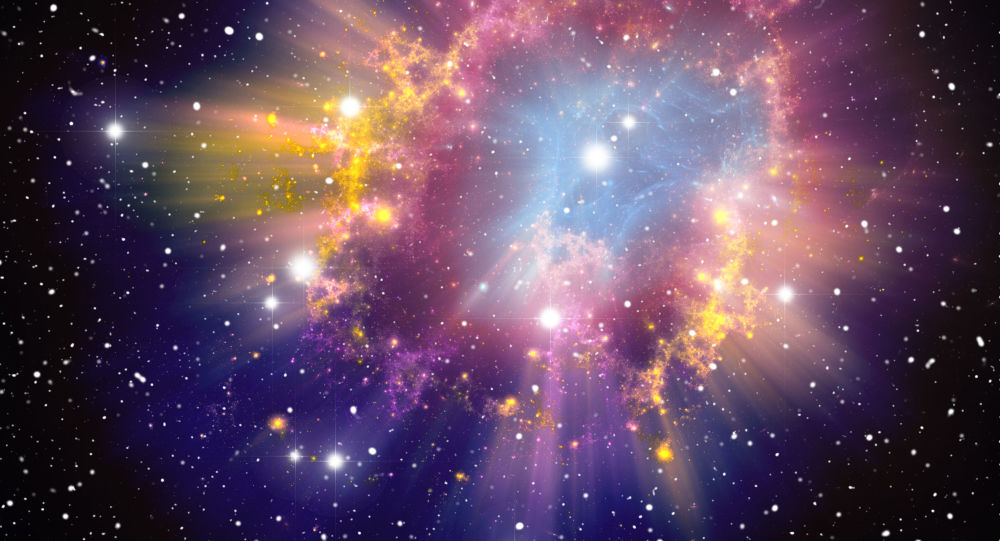Wybuch supernowej. Zdjęcie archiwalne