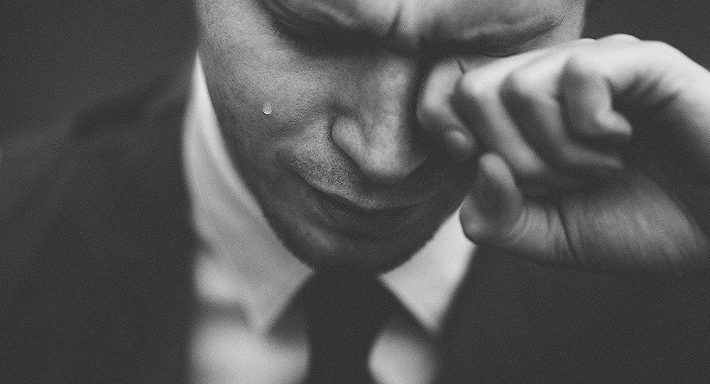 Płaczący biznesmen