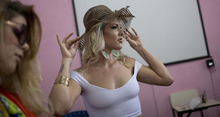 Uczestniczki corocznego więziennego konkursu piękności Miss Talavera Bruce w Rio de Janeiro