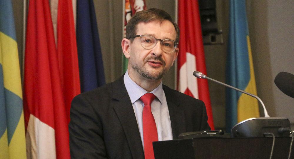 Sekretarz generalny OBWE Thomas Greminger. Zdjęcie archiwalne