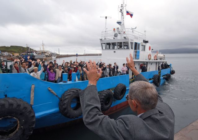 Japońska delegacja, która przybyła na Kuryle w trybie bezwizowym