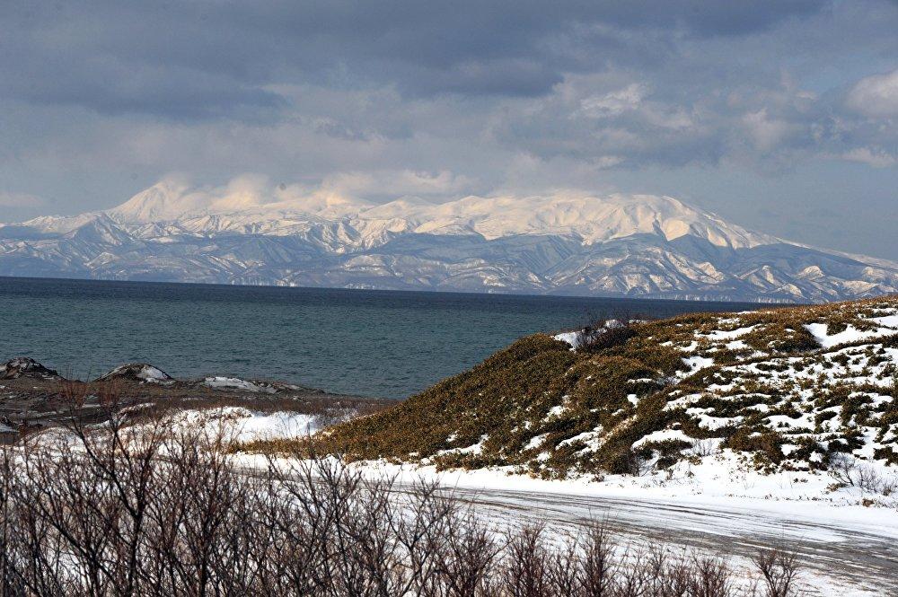 Widok na wyspę Hokkaido zimą