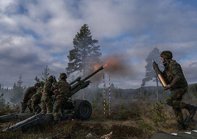 Belgijskie oddziały na ćwiczeniach Trident Juncture