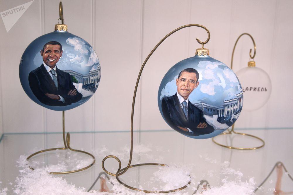 Ekspozycja w muzeum fabryki ozdób świątecznych Ariel w Niżnym Nowogrodzie