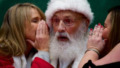 Święty Mikołaj w centrum handlowym w Pensylwanii