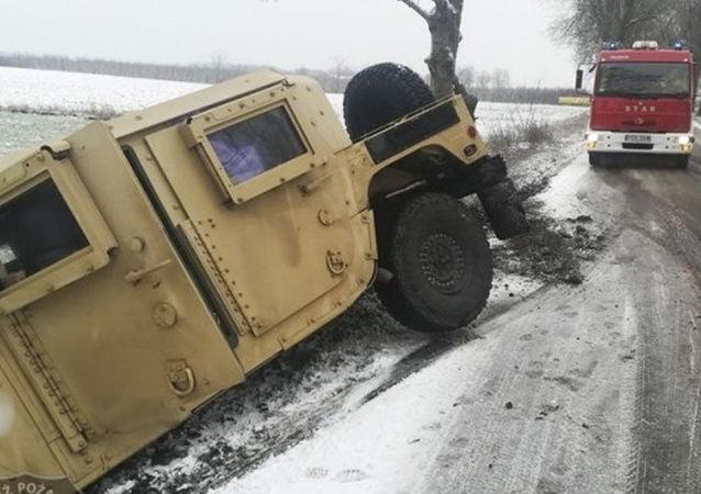 Wypadek amerykańskiego Humvee w Polsce
