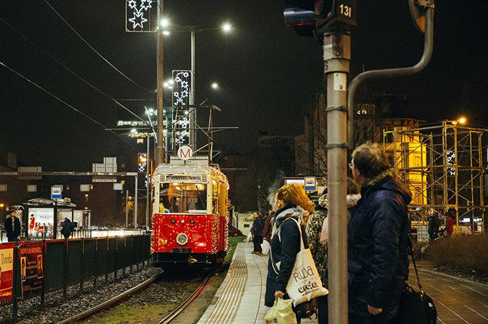 Tramwaj świąteczny w Gdańsku sprzed kilku lat