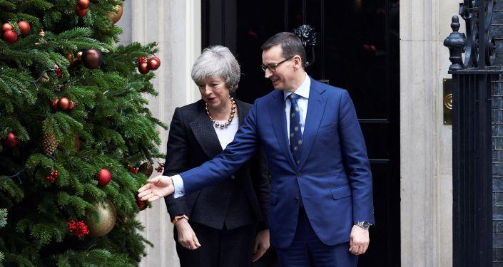 Premier Polski Mateusz Morawiecki z wizytą w Londynie u Theresy May, 20 grudnia 2018