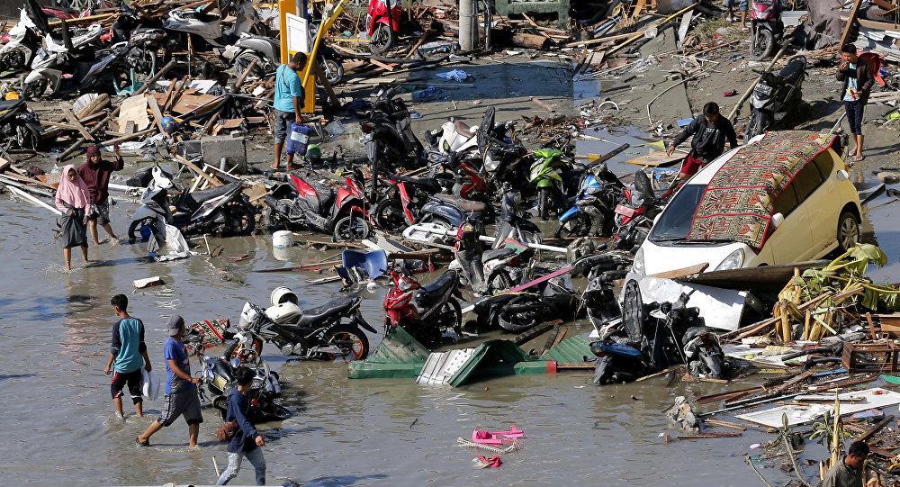 Ofiary tsunami w Indonezji