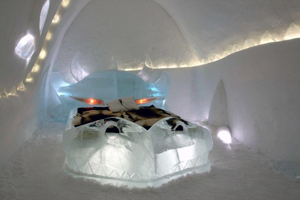 Hotel lodowy Dragon w Jukkasjärvi, Szwecja
