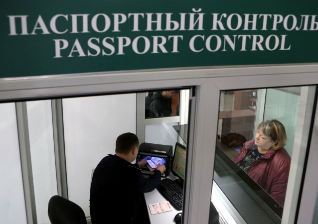 """Praca przejścia granicznego """"Mamonowo-Grzechotki"""" w obwodzie kaliningradzkim"""