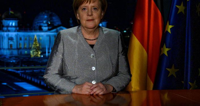 Kanclerz Niemiec Angela Merkel wygłasza orędzie noworoczne