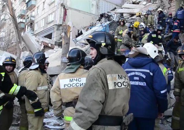 Wybuch gazu w bloku w Magnitogorsku.
