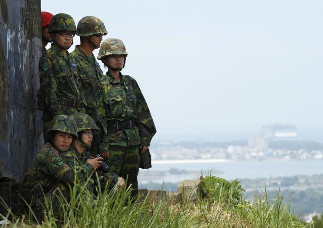 Tajwańscy wojskowi podczas ćwiczeń wojskowych