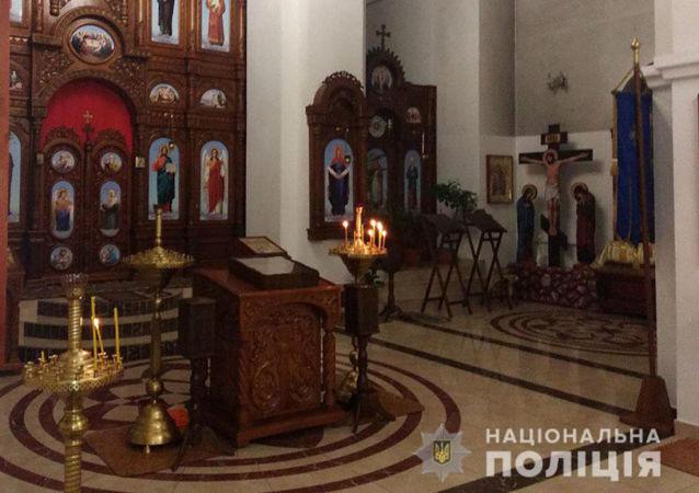 Kościół w Dobropolu na Ukrainie, skąd skradziono relikwie Jerzego Zwycięzcy