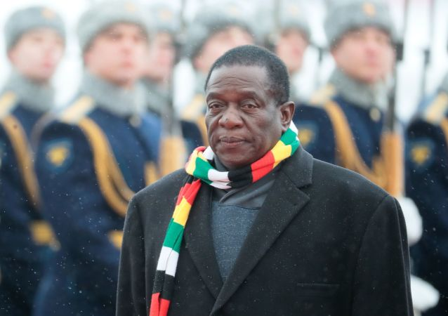 Prezydent Zimbabwe Emerson Mnangawa w Moskwie