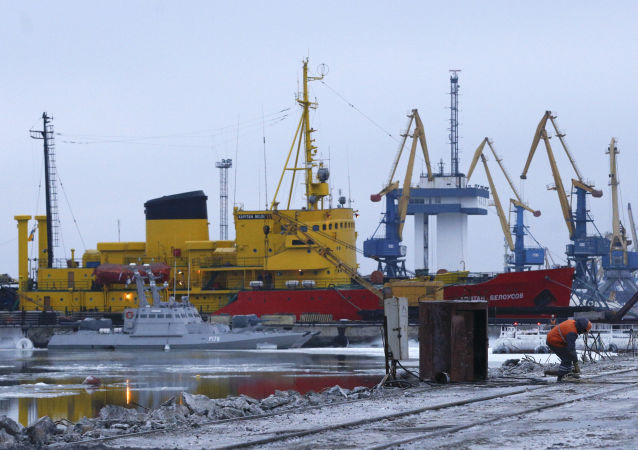 Widok na port Mariupolu
