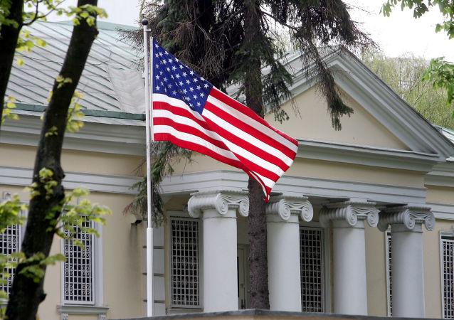 Budynek ambasady USA w Mińsku, zdjęcie archiwalne