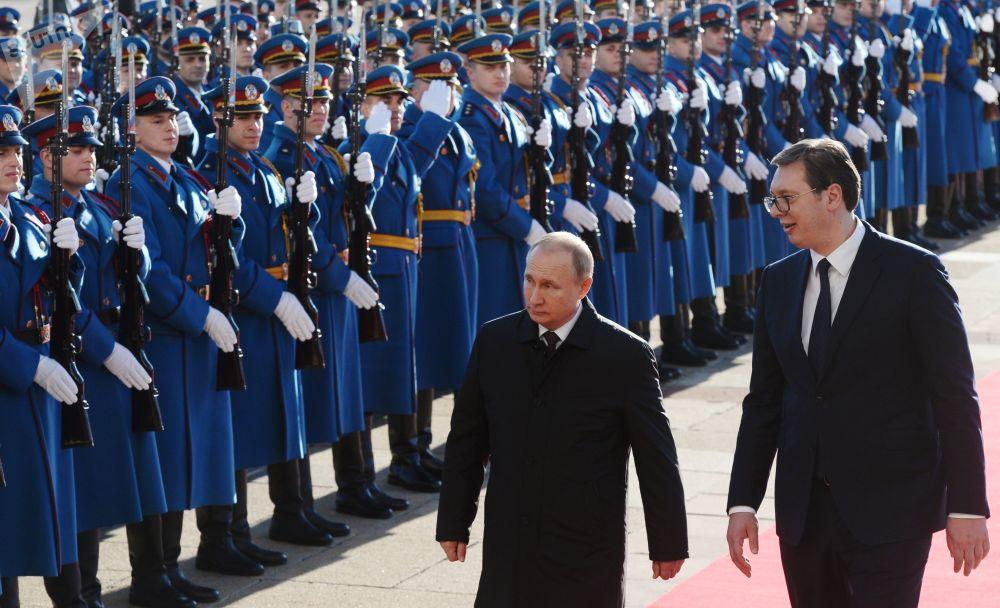 Władimir Putin i Aleksandar Vucić