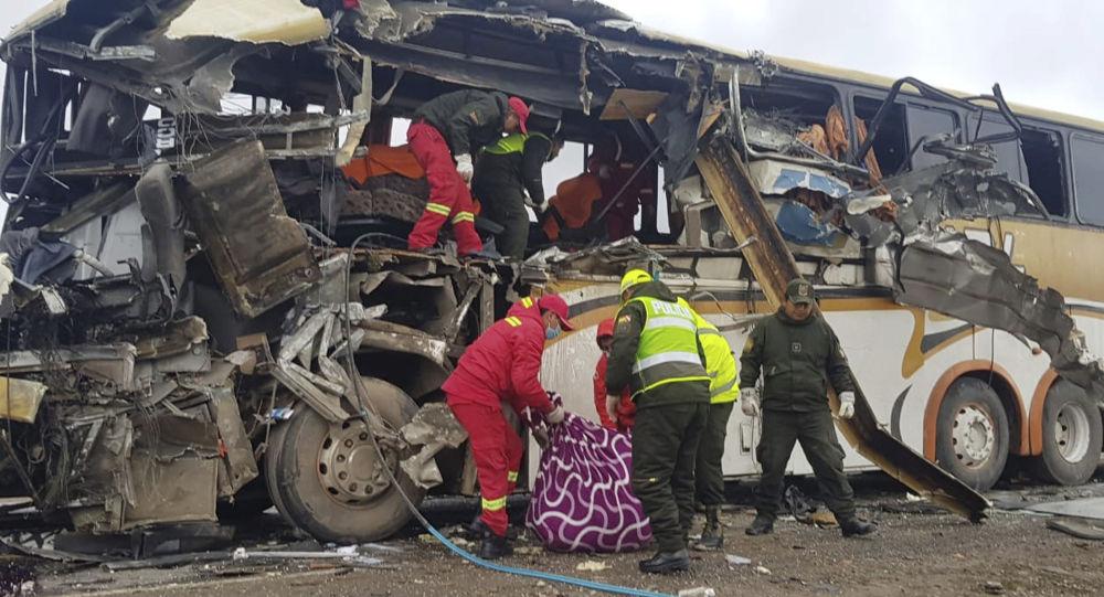 Katastrofa autobusu w Boliwii