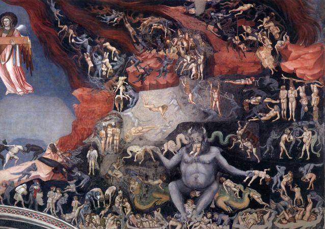Piekło. Fragment obrazu Giotto di Bondone