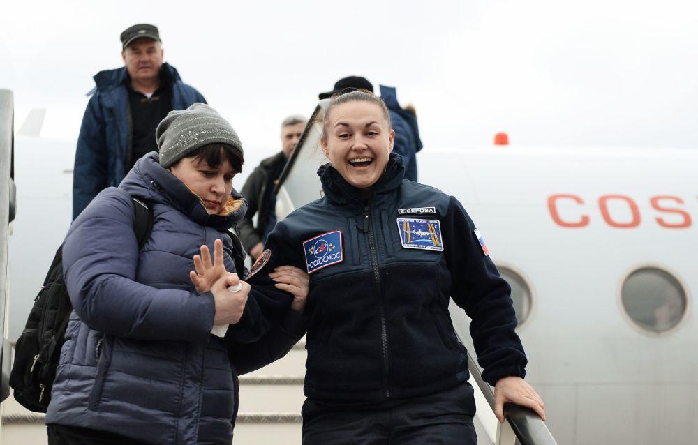 Jelena Sierowa po powrocie na Ziemię