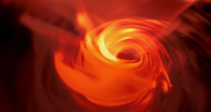 Czarna dziura Sgr A * w centrum Drogi Mlecznej wizualizowana za pomocą wirtualnej rzeczywistości