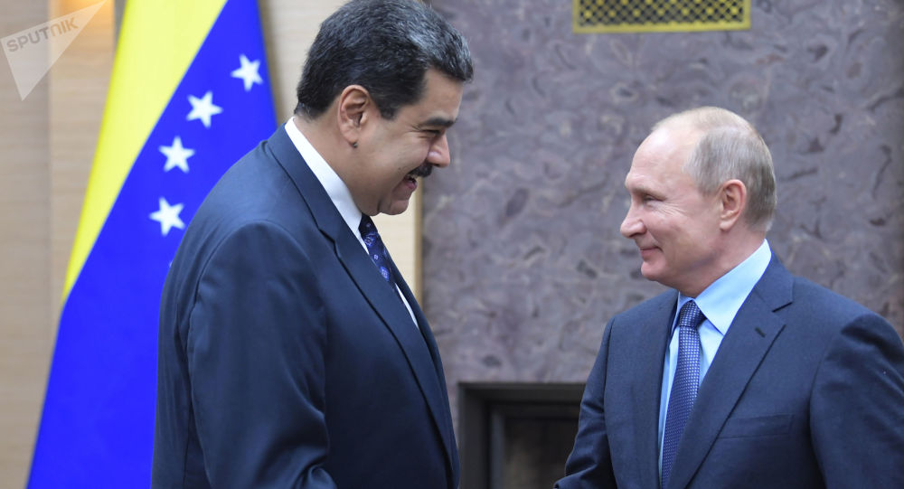 Prezydent Wenezueli Nicolas Maduro i prezydent Rosji Władimir Putin w czasie spotkania w Moskwie