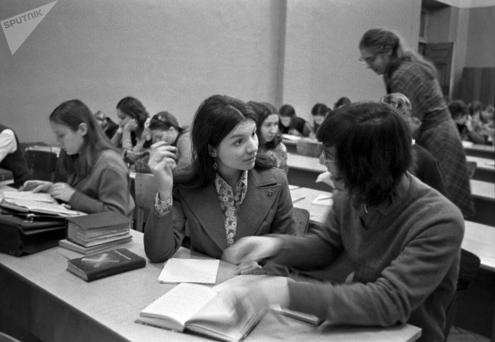 Amerykańscy studenci w Moskiewskim Uniwersytecie