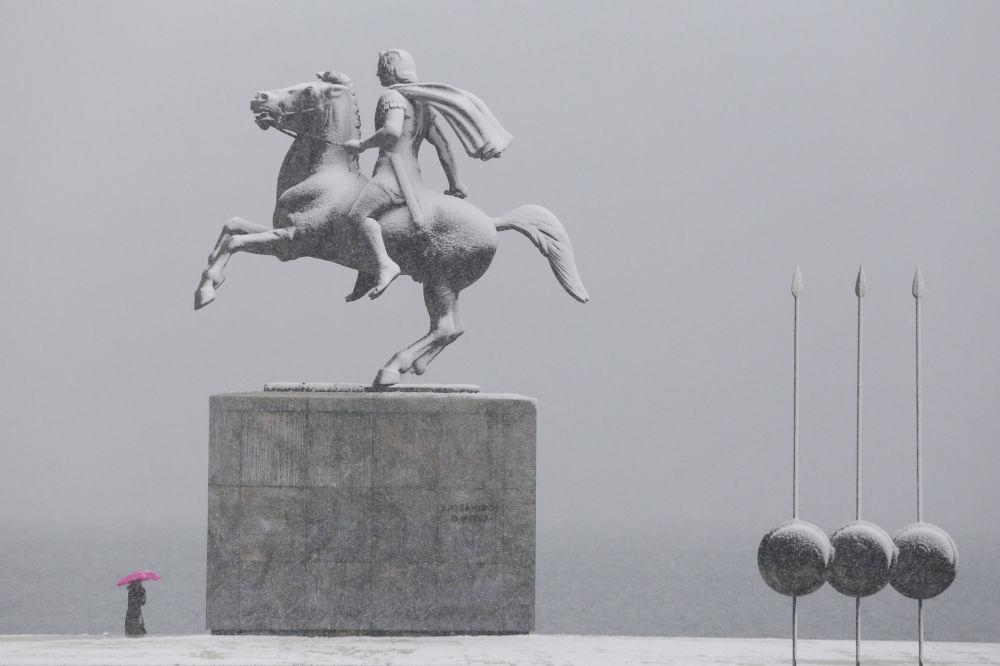 Pomnik Aleksandra Macedońskiego w Salonikach
