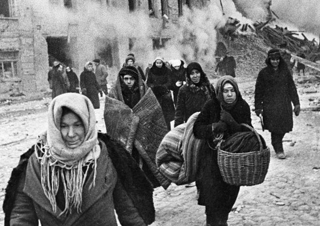 Mieszkańcy Leningradu podczas blokady