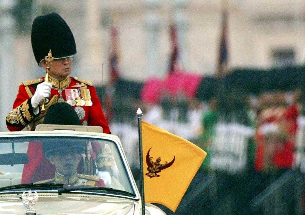 Bhumibol Adulyadej król Tajlandii w Bangkoku, 2002 rok