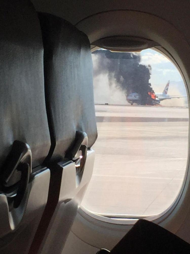 Pożar w samolocie na lotnisku w Las Vegas