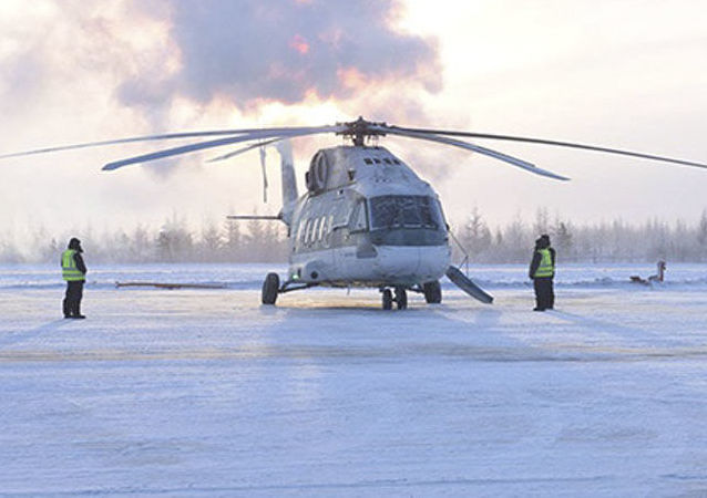 Testy śmigłowca Mi-38 w warunkach ekstremalnych mrozów w Jakucji