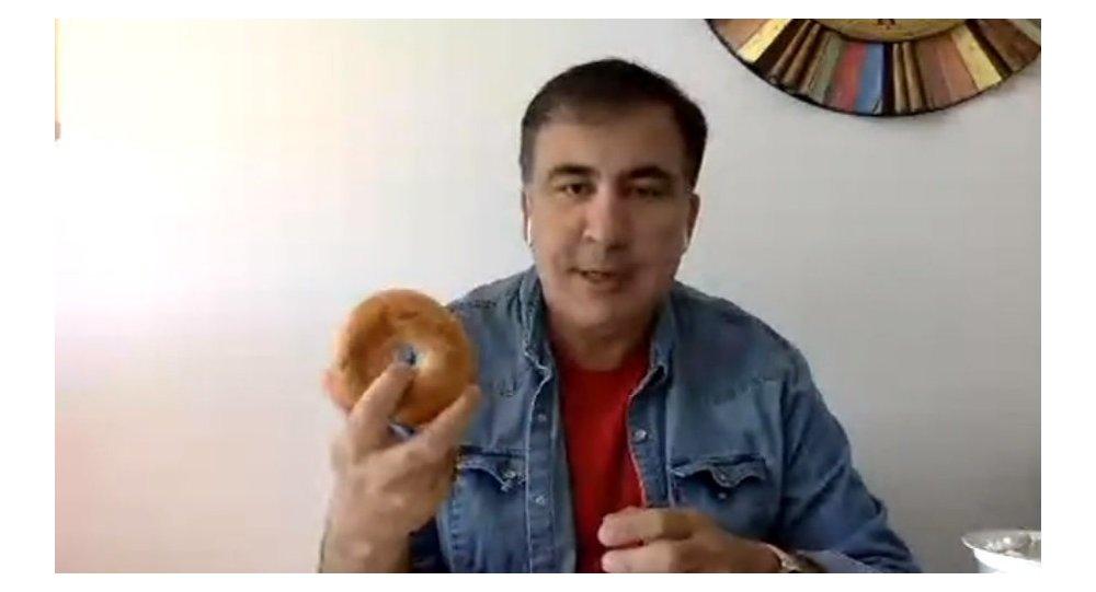 Saakaszwili z bajglem