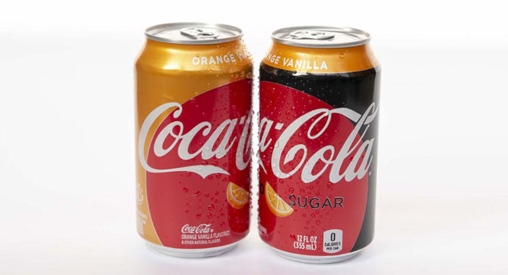 Coca-Cola o smaku pomarańczy i wanilii