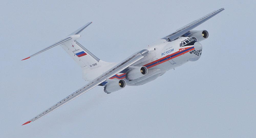 Samolot Ministerstwa Sytuacji Nadzwyczajnych Rosji Ił-76