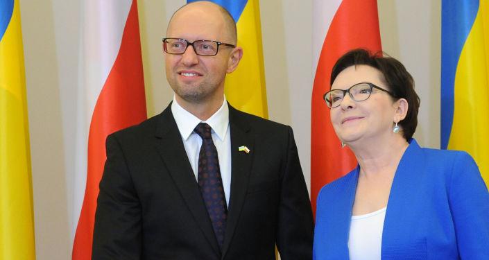Arcenij Jaceniuk i Ewa Kopacz