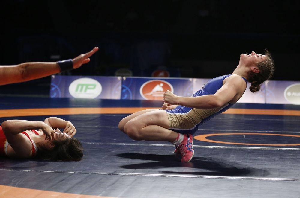 Rosjanka Natalia Worobiewa podczas Mistrzostw Świata w zapasach