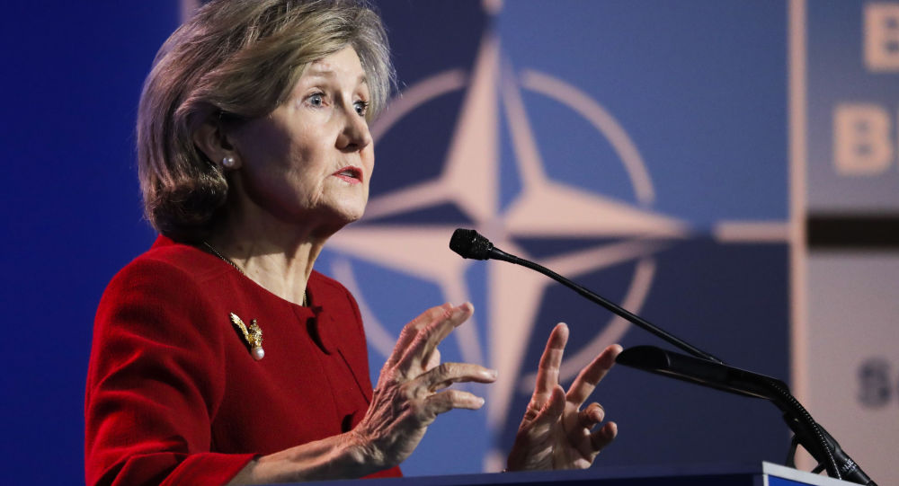 Stały przedstawiciel USA w NATO Kay Bailey Hutchison